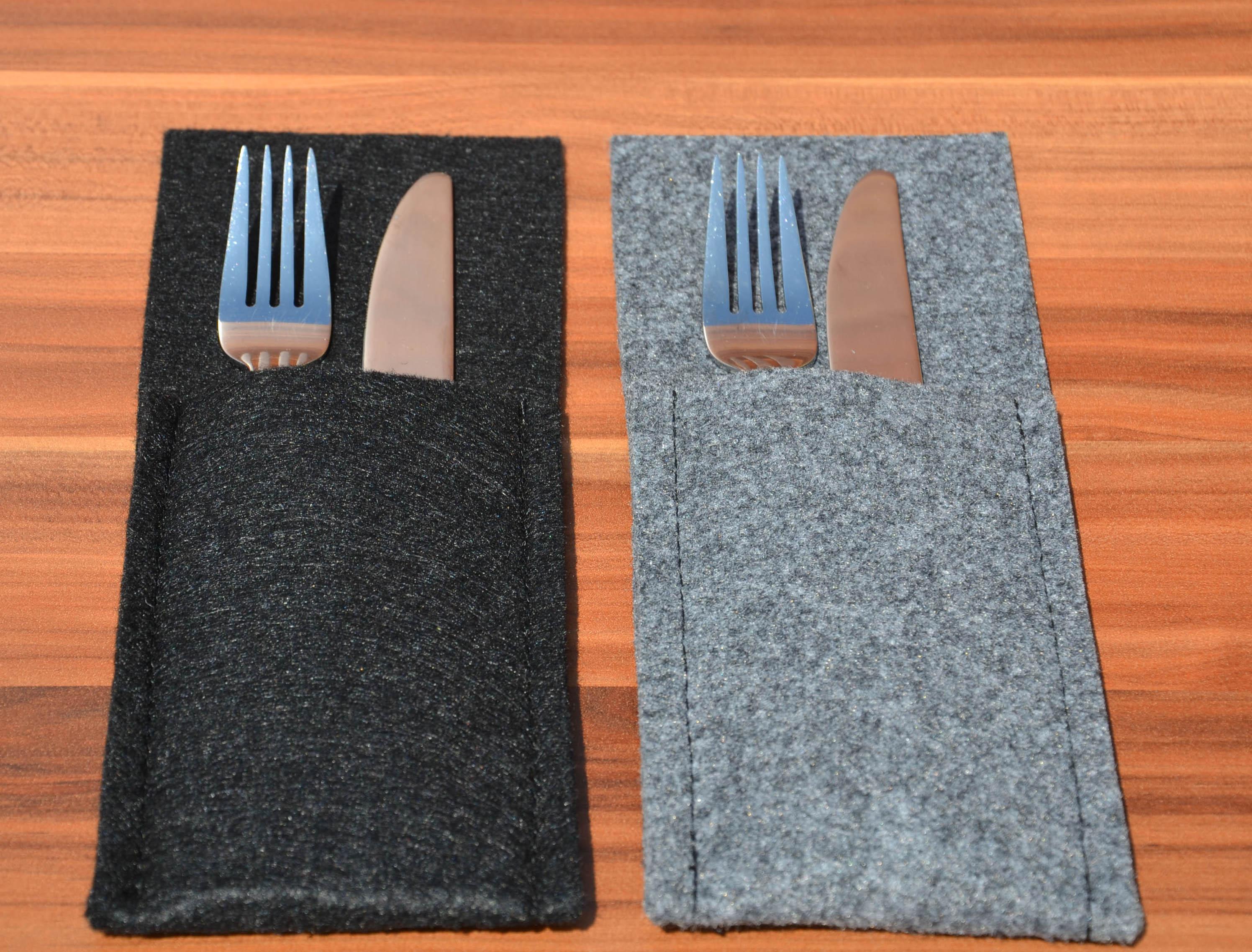 bestecktasche serviettentasche aus filz made in germany farbe w hlbar ebay. Black Bedroom Furniture Sets. Home Design Ideas