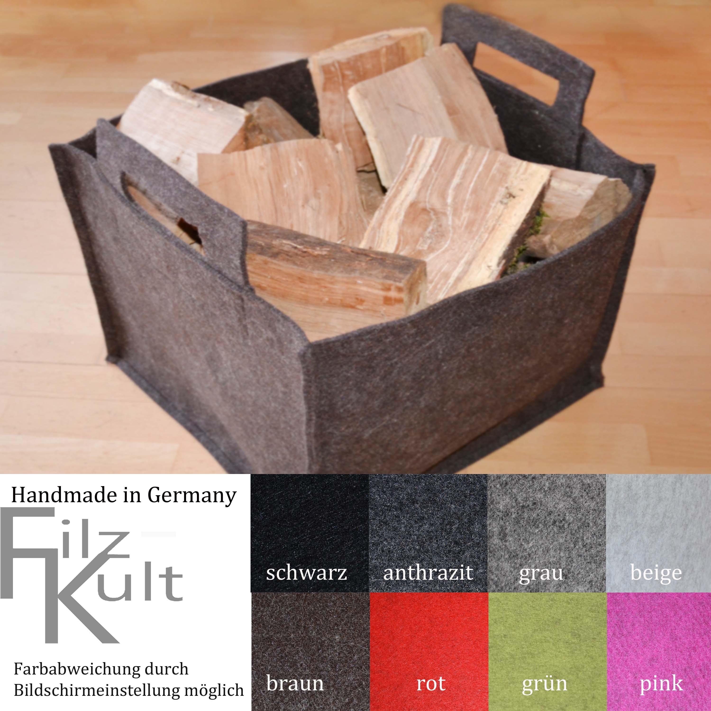kaminholzkorb zeitungsst nder filzkorb tasche korb aus. Black Bedroom Furniture Sets. Home Design Ideas